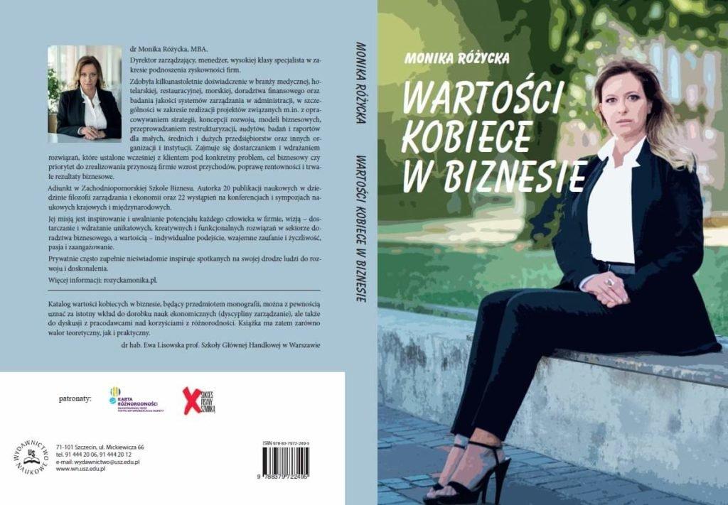 """Zachęcam do nabycia mojej nowej monografii """"Wartości kobiece w biznesie"""""""