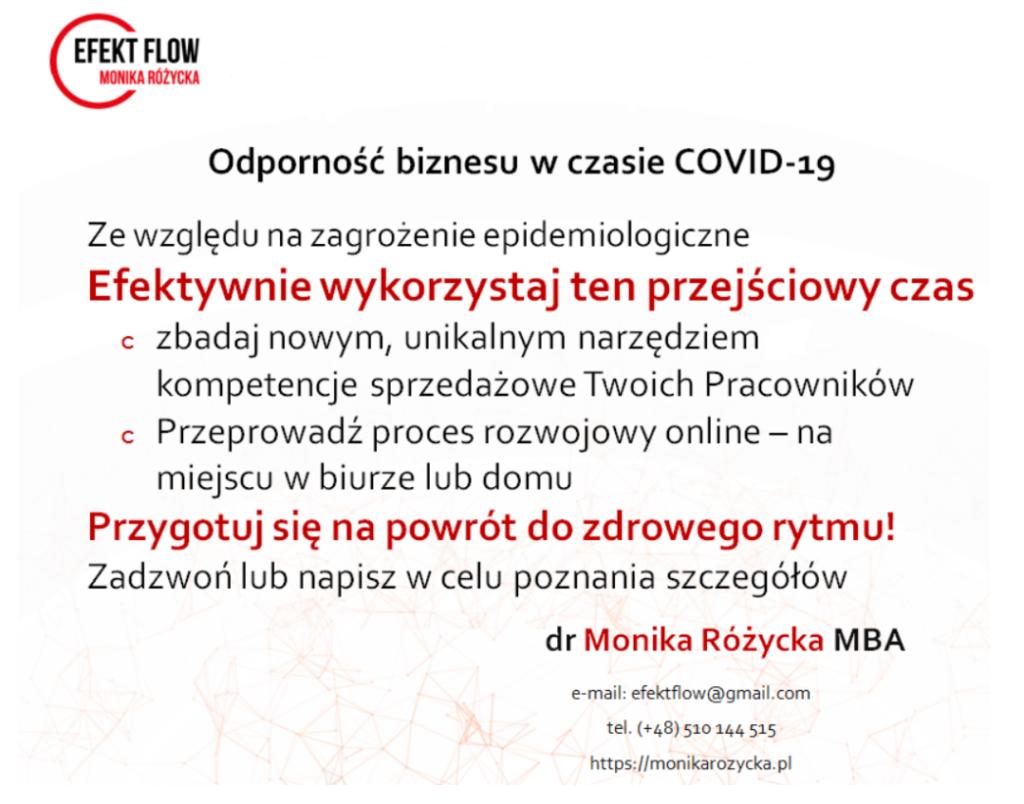 Odporność biznesu w czasie COVID-19